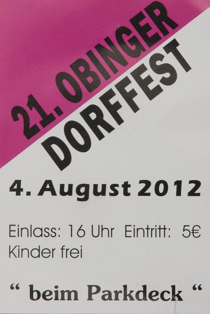 21. Obinger Dorffest