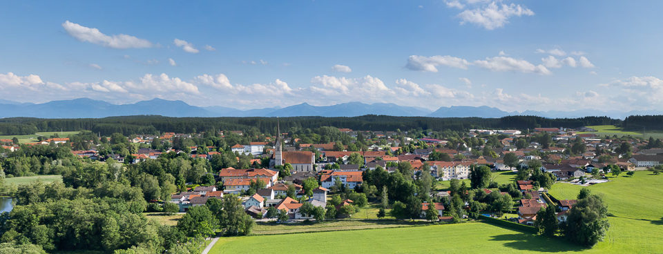 Obing See Alpen Panorama