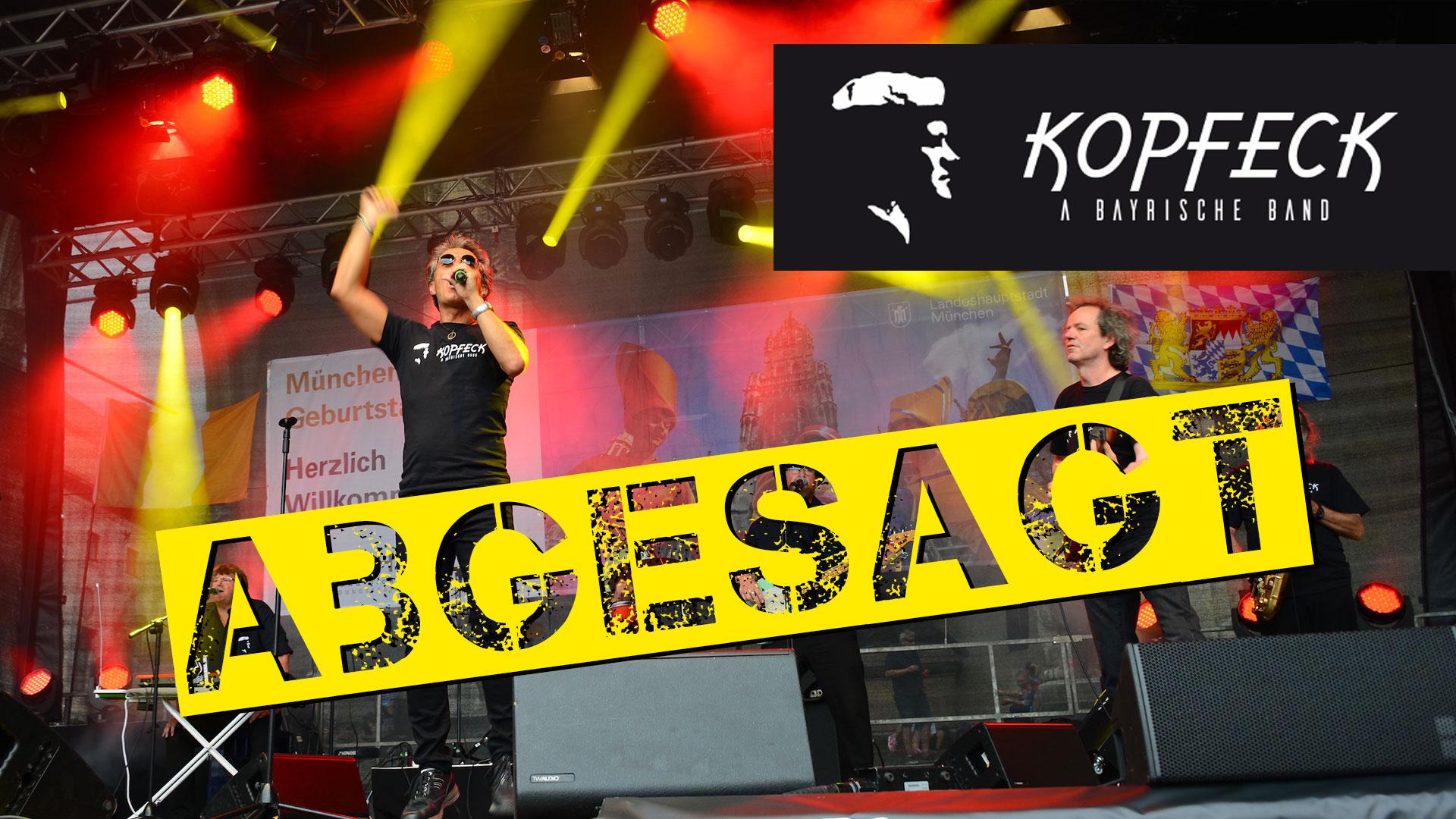ABGESAGT: Kopfeck - a bayrische Band